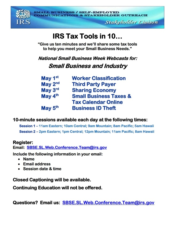 Webcasts_for_Small_Business_Week_(May 1-5 2017)_Flyer_FINAL