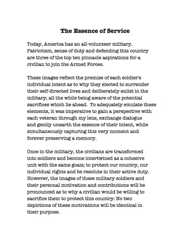 Judy Day Artist Statement - Essence of Service