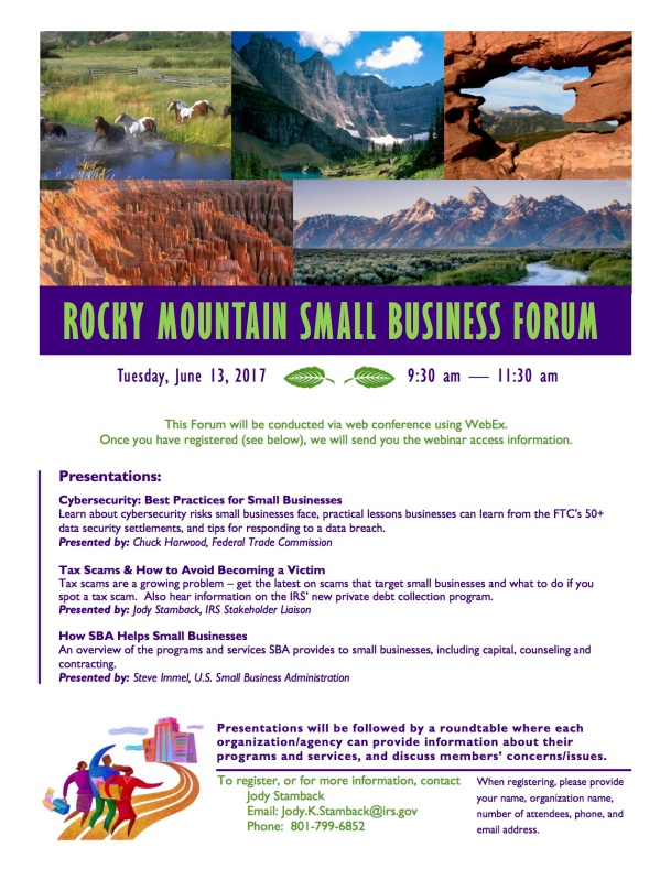 Rocky Mountain Small Business Forum Flyer 6-17 - UT