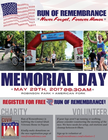 Run of Remembrance Flyer